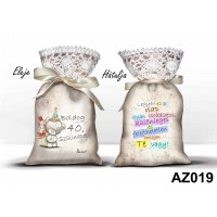 (AZ019) Boldog 40. szülinapot - Ajándék ötletek 40. szülinapra – Álom zsák