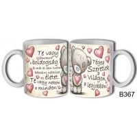 (B367) Téged szeretlek a világon a legjobban! – Szerelemes bögre – Szerelmes pároknak ajándék