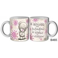 (B465) A legjobb óvónéni macis – Óvónéniknek Bögre – Óvónéniknek ajándék