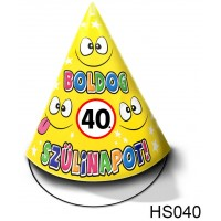 (HS040) Boldog 40. Szülinapot – Születésnapi sapka – Születésnapi kiegészítő