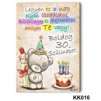 (KK016) Boldog 30. Születésnapot – Falikép - Fali dekoráció