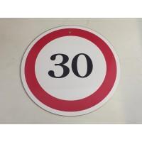(KT003) 30-as sebességkorlátozó tábla – Sebességkorlátozó tábla – 30. Szülinapi ajándék