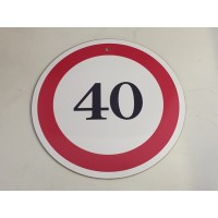 (KT004) 40-as sebességkorlátozó tábla – Sebességkorlátozó tábla – 40. Szülinapi ajándék