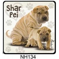 (NH134) Shar pei – Kutyás Hűtőmágnes – Kutyásoknak ajándék
