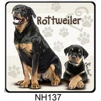 (NH137) Rottweiler – Kutyás Hűtőmágnes – Kutyásoknak ajándék