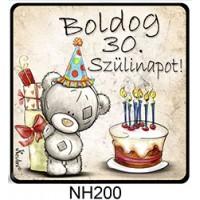 (NH200) Boldog 30. Szülinapot! - Hűtőmágnes – Születésnapi Ajándék