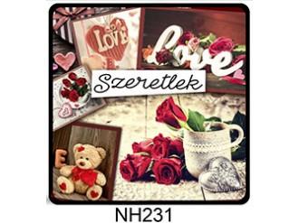 8990f5a07d (NH231) Love, love, love - Hűtőmágnes - Szerelmes Ajándék