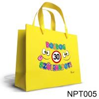 (NPT005) Boldog 30. Születésnapot – Nagy Dísztasak - Ajándéktasak