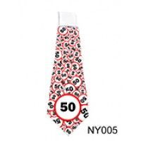 (NY005) Születésnap 50 karikás – Nyakkendő – Születésnapi Ajándék