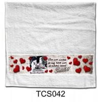(TCS042) Nem azért szeretlek – Szerelmes törölköző – Szerelmes ajándék